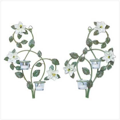 Metal Magnolia and Vine Candleholders - Pr