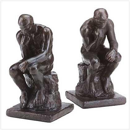 3209200: Bronze Color Alabastrite THINKERS Bookends - 2 pc. Set