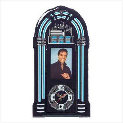 3671400: Unique Elvis Jukebox Wall Clock - Almost 2 Feet Tall