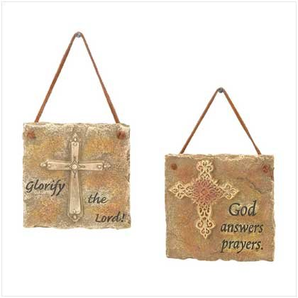 Religious Inspiration Wall Plaques-Set of 2