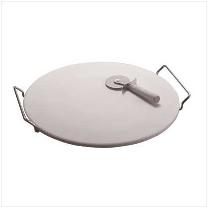 """2917100: 15"""" Pizza Baking Stone with Metal Rack and Pizza Cutter - 3 pc. Set - OOS til 6/5/10"""