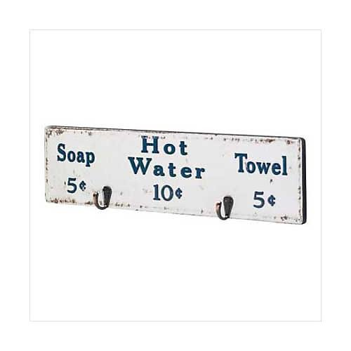 3552400: Rustic Bathhouse Towel Rack