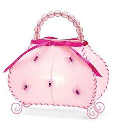 3702600: Adorable Pink Butterfly Handbag Night Light