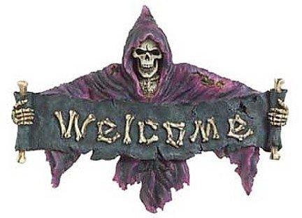 3707000: Skeletal Grim Reaper Welcome Plaque