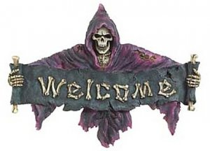 3707000: Skeletal Grim Reaper Welcome Plaque