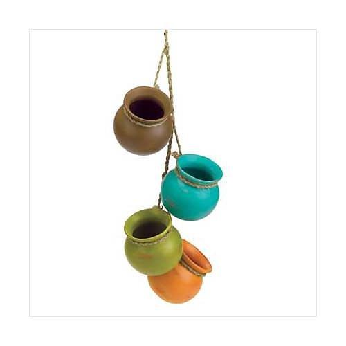 3773300: Southwestern Design Dangling Mini Pots