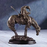 "3104400: Polyresin Bronze-Finish Sculpture ""End of the Trail"""