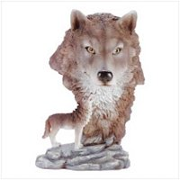 3140500: Timber Wolf with Wolf Head