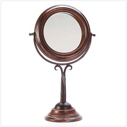 3301200: Mango Wood Swivel Dresser Mirror-Over A Foot Tall