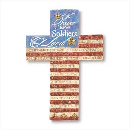 "3834500: ""A Soldier's Prayer"" Cross Religious Decor"