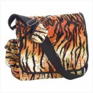 3872800: Tiger Print Messenger Tote Bag-Great for School/College/Travel