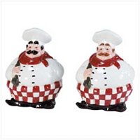 Chubby Chef Salt and Pepper Shakers