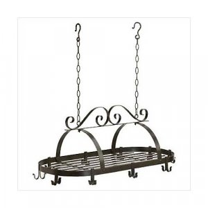 3560300: Wrought Iron Scroll Design Hanging Pot Holder