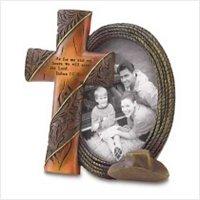 3846300: Joshua 24:15-Religious Western Cross Photo Frame