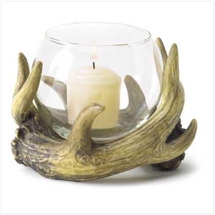 3844400: Rustic Antler Candleholder