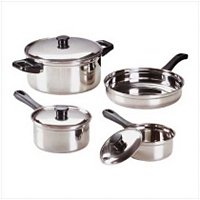 2851800 Stainless Steel Cookware Set - 7 pc. Set