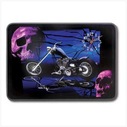 3882900: Chopper and Skulls Wall Clock