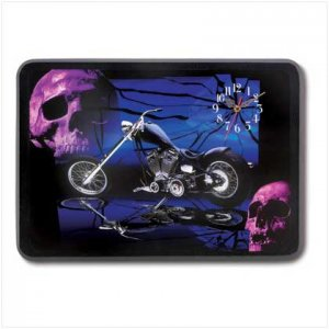 3882900: Chopper and Skulls Wall Clock