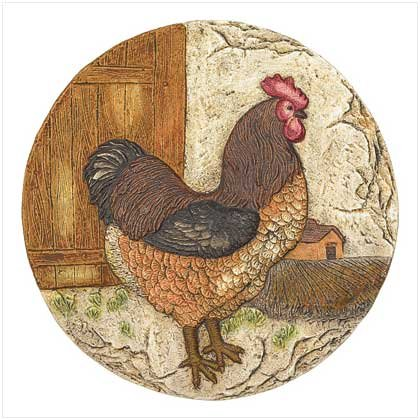3880600: Jaunty Rooster Garden Stepping Stone or Plaque