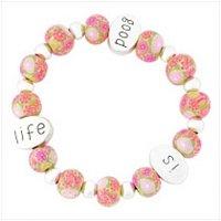 "3909600: ""Life Is Good"" Handmade Clay Bracelet"