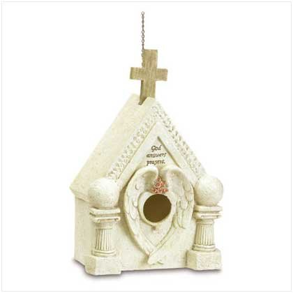 3800300: Church Bird House - A Heavenly Retreat for Your Feathered Friends
