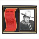 3927800: John Wayne Biography Plaque
