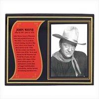 3927800: John Wayne Biography Plaque