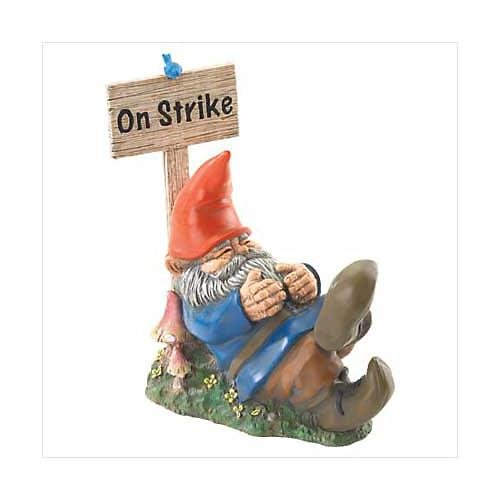 3709500: On Strike Sleeping Gnome - Home and Garden Decor