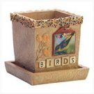 3829700: Birds Scrapbook Themed Pot for Home and Garden Decor