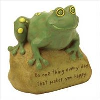 3774500: Inspirational Frog Statue for Home and Garden Decor