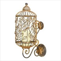 3903600: 19th Century Paisian Decor Birdcage Candle Holder