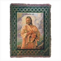 3902900: The Lord is My Shepherd Tapestry Throw - Religious Decor