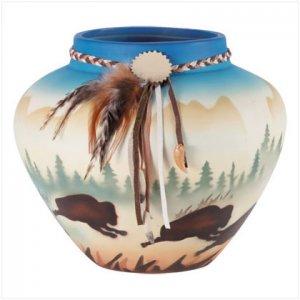 3315800: Ceramic Southwestern Hand Painted Vase