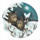 3914800: Decorative Night Wolves Plate-3-D Design