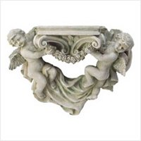3896500: Angel Cherub Wall Shelf