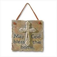 3856700: May God Bless This Home Plaque