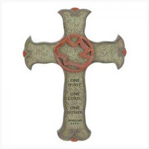 3949200: Ephesians Passage Spiritual Cross Plaque