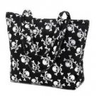 1222600: Gothic Skull Messenger Tote Bag/Great For School/College/Travel