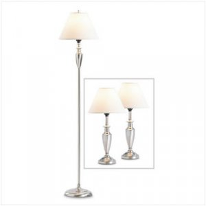 3699800: 3 pc Set  Classic Colonial Two Tone Lamps