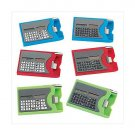 3967600: Calculator Card Holders with Pen - 6 pc. Set in Blue, Red and Green Colors