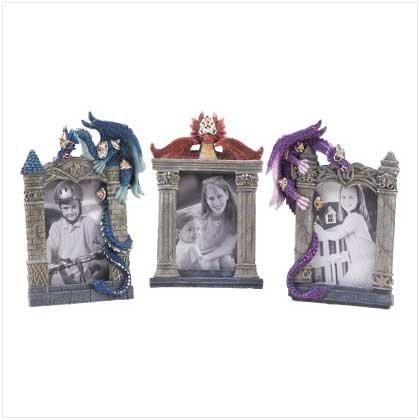 3982300: Jeweled Dragon Photo Frames 3 pc. Set