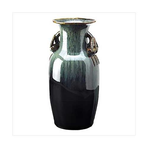 3926100: Beautiful Earthtone Grecian Olive Jar Vase - Pocelain