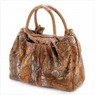 1225600:  Buttery-soft Snake Skin Printed Handbag - Multiple Uses