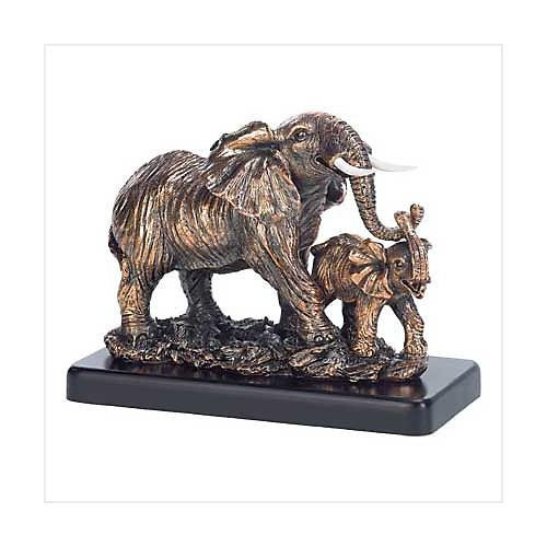 3898700:  A Mothers Love Elephant Statue