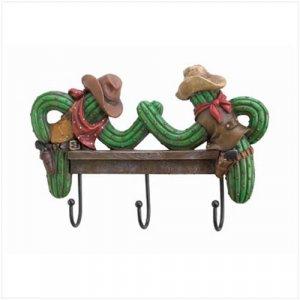 3651600: Cowboy Cactus Wall Hooks
