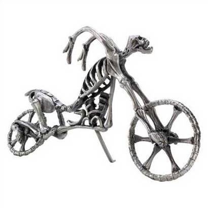 1271100: Spine-Chilling Grim Reaper Fantasy Skull Cycle - Pewter