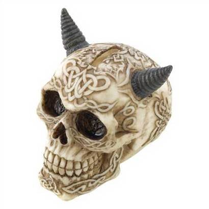 1254600: Horned Tribal Skull Bank