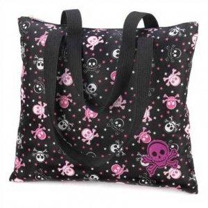 1292800: Skull Messenger Tote Bag/Great For School/College/Travel