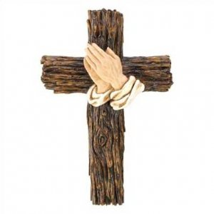 1296900: Religious Praying Hands Cross
