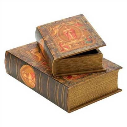 1294400: Jesus Bible Storage Boxes - Religious Decor